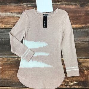 Marble Women Thin Cable-knit LS Sweater Size M